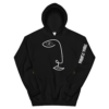 unisex-geometric-hoodie up-black front